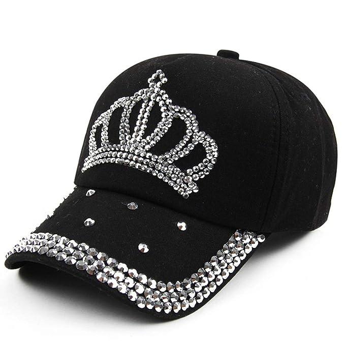 600621a2913c1 New Crown Rhinestone Baseball Caps Fashion Jean Hat Hip Hop Women Denim  Baseball Cap Sun Hat