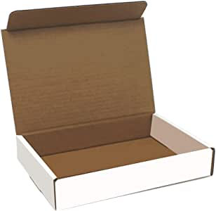 Cajas de cartón corrugado de color blanco, 9 pulgadas de largo x ...