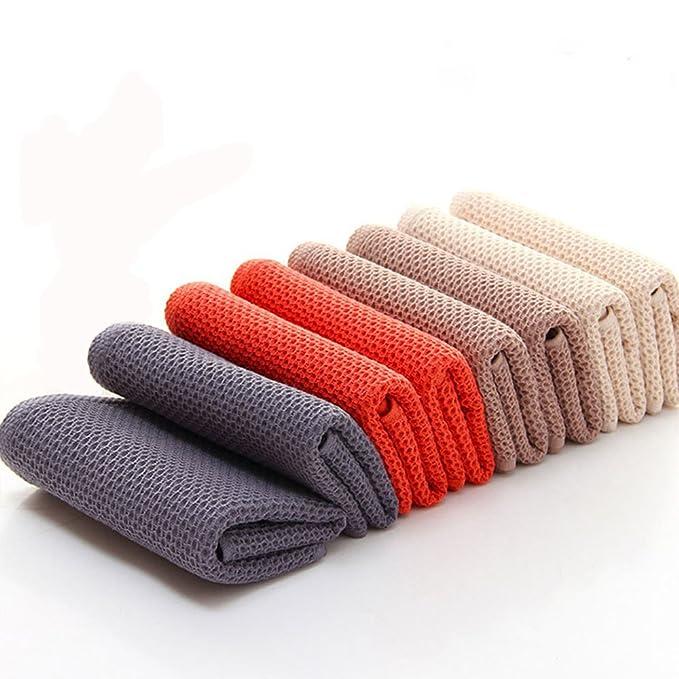 chrislz Pack de 4 toallas de algodón de color puro toalla de mano abeja forma manopla Premium Hotel toallas de cara de 4 colores: Amazon.es: Hogar