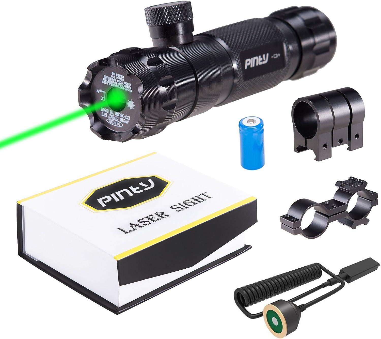 Red Green Laser Dot Sight Scope Outside Adjust For Rifle Gun Scope Mounts Set