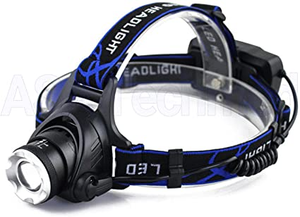 Headlamp Zoom Rechargeable T6 LED Headlight 90000LM 18650 Flashlight Head Torch