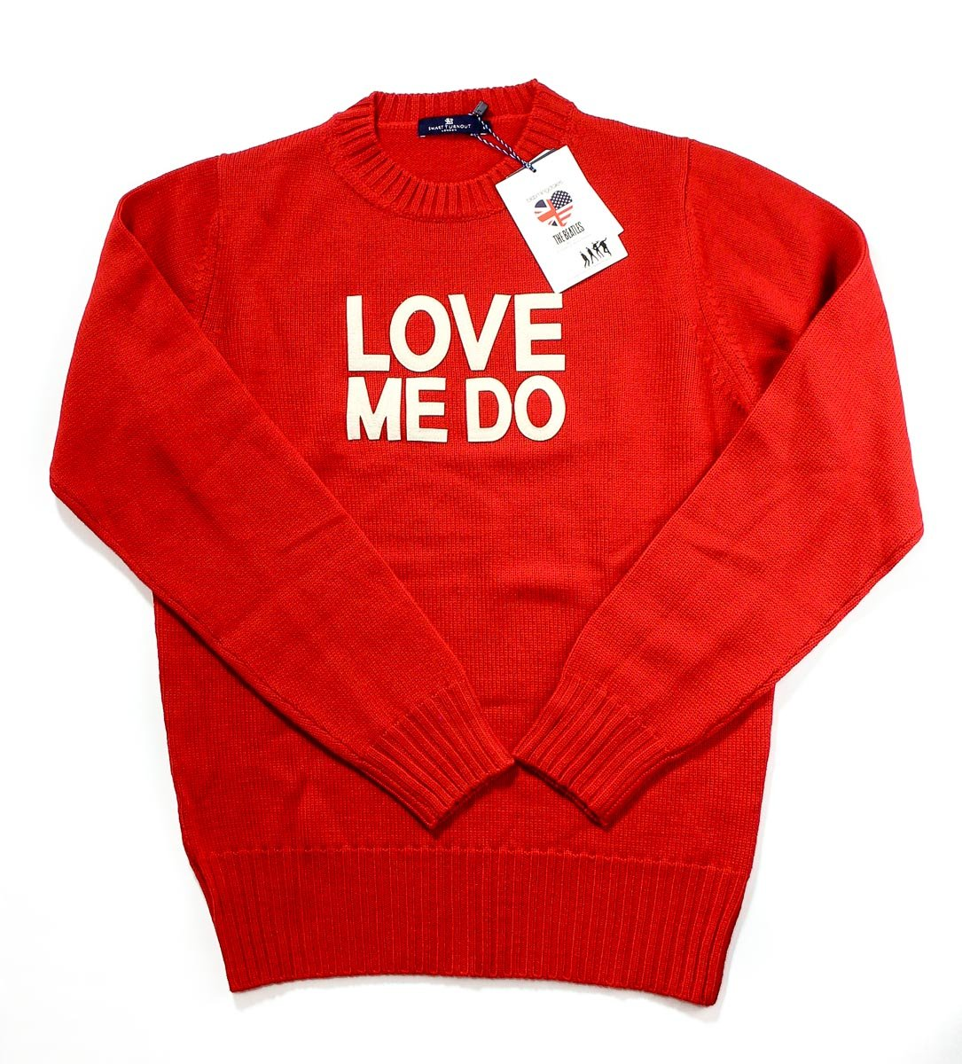 Smart Turnout London The Beatles Men's Love Me Do Sweater - Red Large