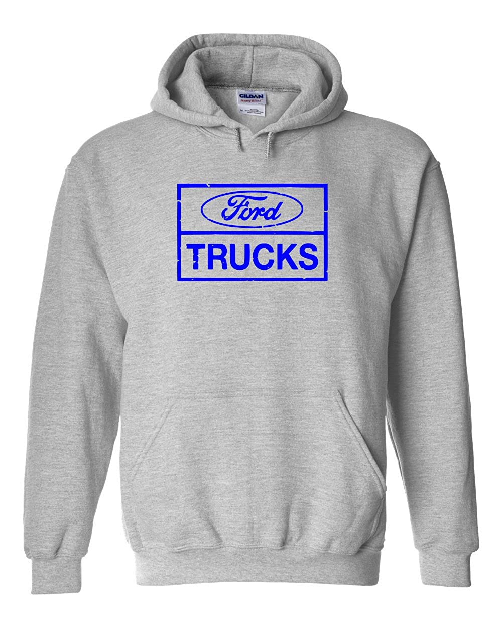 Vintage Ford Fan Hooded Blue Design Ford Trucks Hoodie Womens