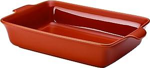 Anolon 51038 Vesta Roasting Pan / Baking Pan / Lasagna Pan - 9 Inch x 13 Inch, Persimmon Orange