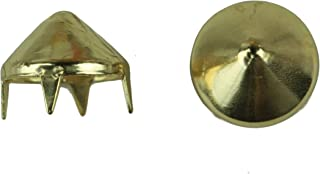 product image for C&C Metal Products 1006 Cone Spike Nailhead, Size 40, Solid Brass, Gold Finish, 150-Pack