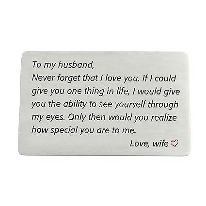 Regalo de aniversario para marido de esposa, tarjeta de ...