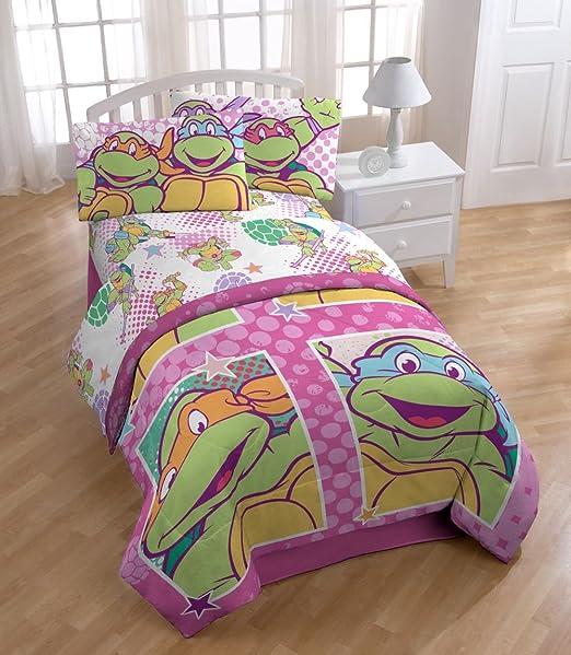 Amazon.com: Nickelodeon Sábana de las Tortugas Ninjas ...