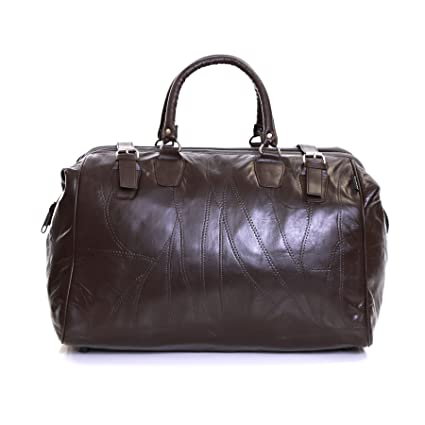 Slimbridge Malaga sac en cuir Voyage, Noir