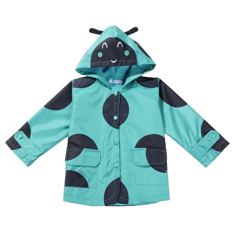 1bd06ce7ab0a Arshiner Girls Kids Rain Jacket Outwear Raincoat Waterproof Hoodies ...