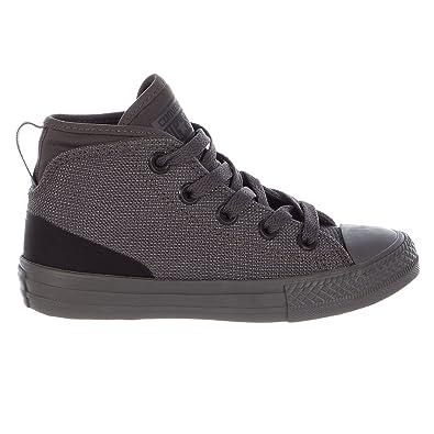 Converse Kids Chuck Taylor All Star High Street Hi Fashion Sneaker Shoe, Charcoal, 13
