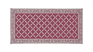Amazoncom Reversible Mats 119185 BurgundyBeige 9x18 RV Garden