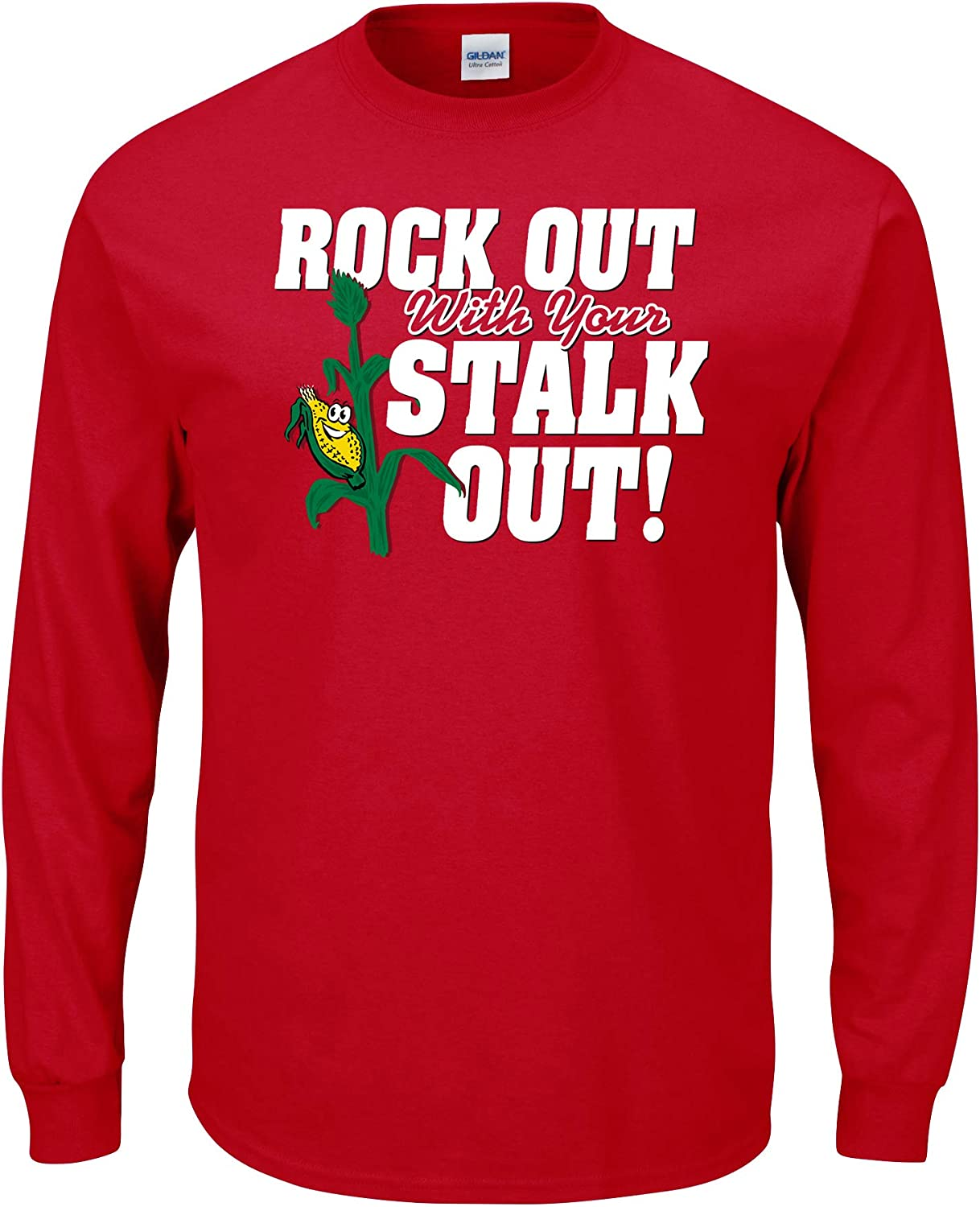 Sm-5X Rock Out with Your Stalk Out Red T-Shirt Smack Apparel Nebraska Football Fans