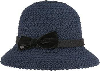Made in Italy Schlapphut Winterhut mit Ripsband Fr/ühling-Sommer Herbst-Winter Lierys Damenflapper Melange Wollfilzhut Damenhut Damen