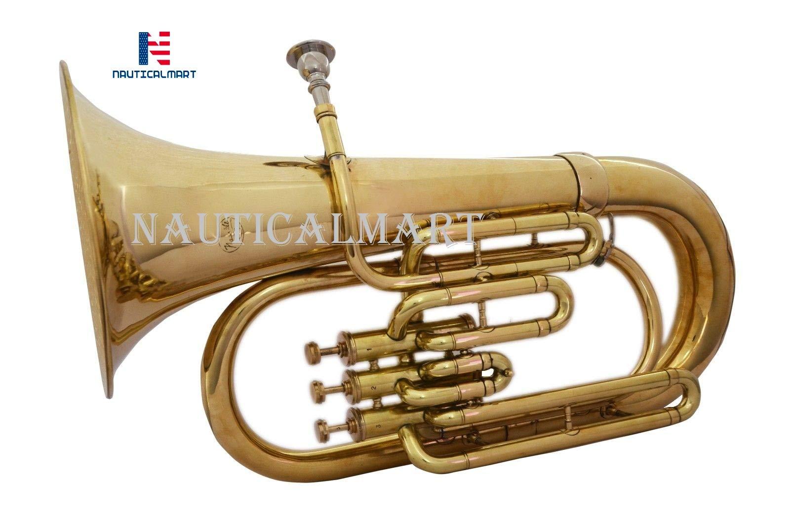 NauticalMart Full Brass Bb Euphonium 3 Valve