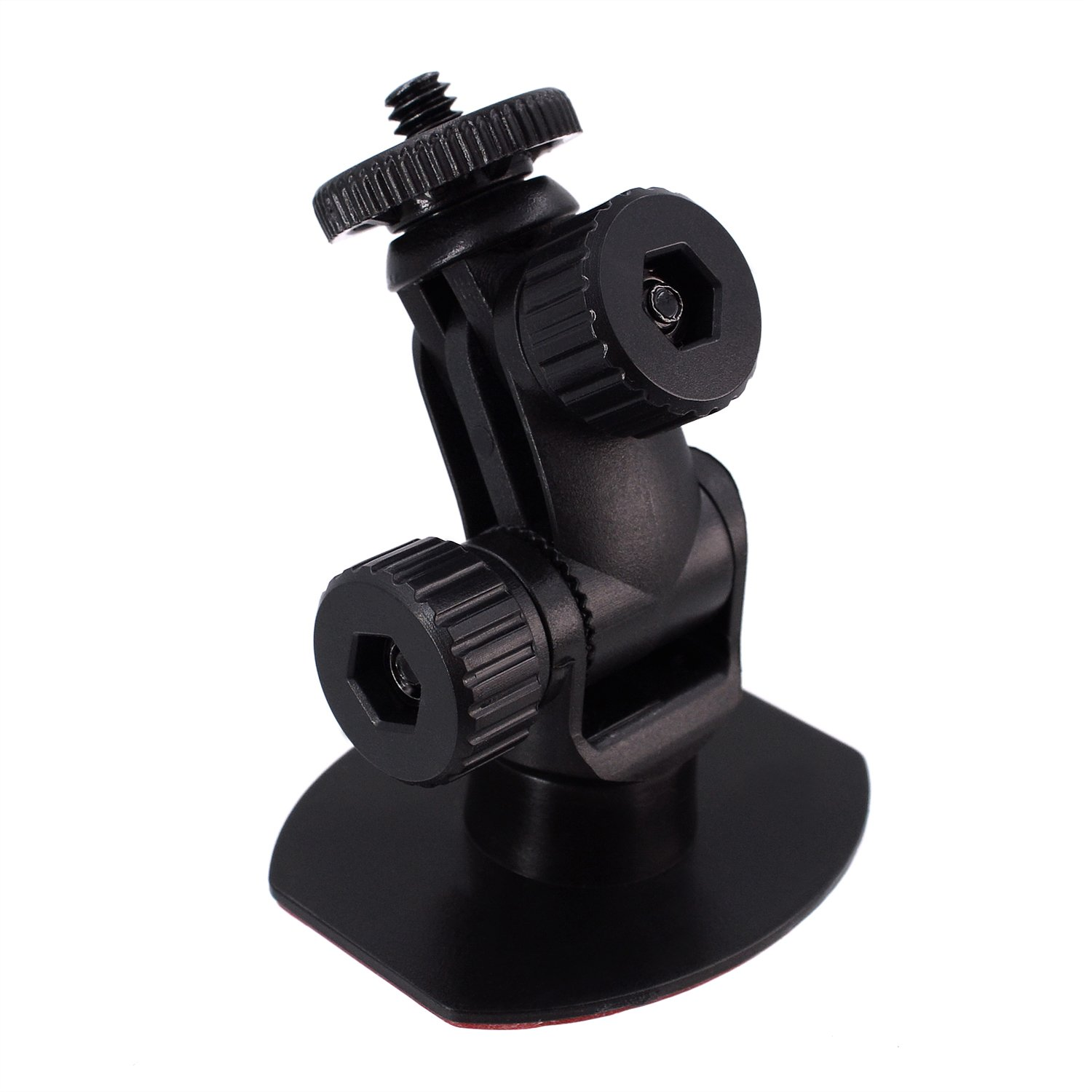 "iSaddle CH114 1/4""-20 Thread Car Dash Camera Mini 3M Double-Sided Adhesive Dashboard Mount Holder"