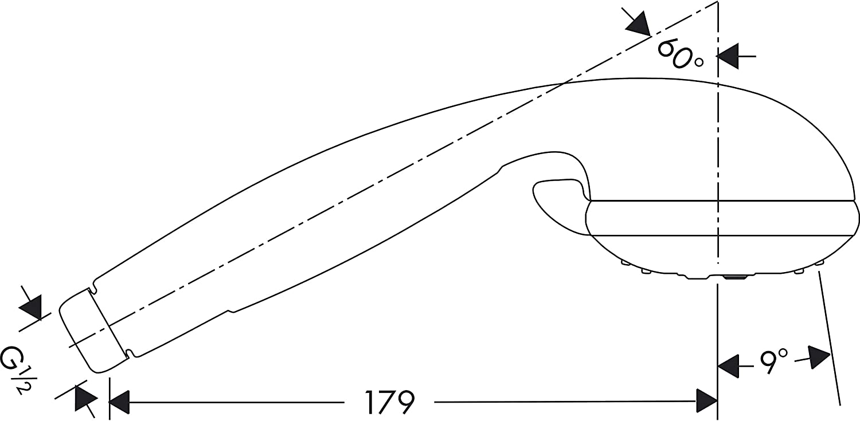 Hansgrohe Douchette Croma 2 Jets Chrom/é 28570000