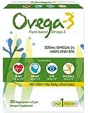 Ovega-3 Vegetarian/Vegan Omega-3, One Per Day, Dietary Supplement, Algal Oil, 500 mg Omegas, 135 mg EPA, 270 mg DHA, 30 Count