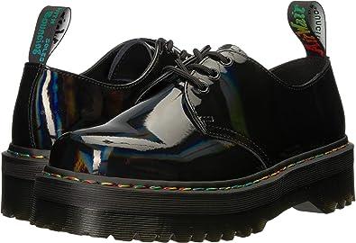 f216b2d9c1 Dr. Martens Women's Quad Retro 1461 Lace Up Shoe Black Rainbow-Black-5