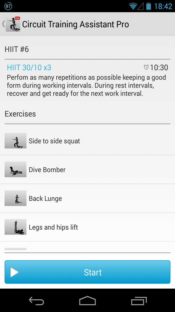 Circuit Training Assistant Pro Appstore For Android 10 Exercises