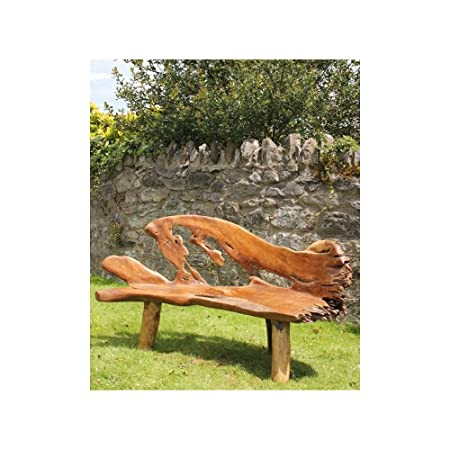 Peachy Hand Carved Solid Teak Root Bench Chair Trb457 Siiren Squirreltailoven Fun Painted Chair Ideas Images Squirreltailovenorg