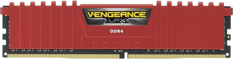 Corsair Vengeance LPX 8GB (1 x 8GB) DDR4 DRAM 2400MHz (PC4-19200) C16 Memory Kit, Red