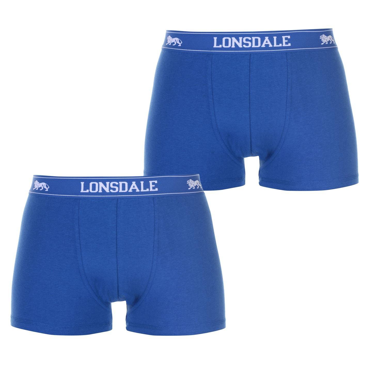 Lonsdale Herren 2 Paar Hipsters Trunk Boxer Shorts Unterhose Unterwaesche