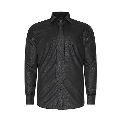 Robelli Herren Freizeit-Hemd Gr. Small, Soft Paisley - Black