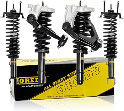 OREDY Front Left /& Right 2 Pieces Complete Shock Strut Coil Springs Assembly Kit 11753 11754 1331642R 1331642L Compatible with 2000 2001 Altima FWD
