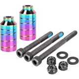 "Kutrick Pro Scooter Pegs Set with Axle Hardware 2.5"", 3.0"" ,3.5"" for Freestyle Scooter Grinds"