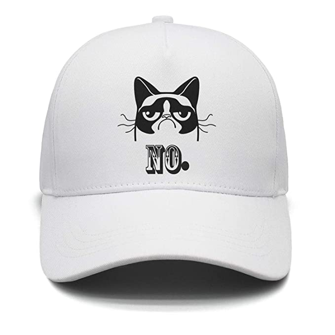 9afc78b6356 Owdkajds Unisex Adjustable Grumpy cat no Basketball caps Fashion Dad ...