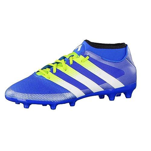 best sneakers 87960 a8d6f adidas Ace 16.3 Primemesh FG AG, Botas de fútbol para Hombre, Azul Verde    Blanco (Azuimp Seliso   Ftwbla), 48 2 3 EU  Amazon.es  Zapatos y  complementos