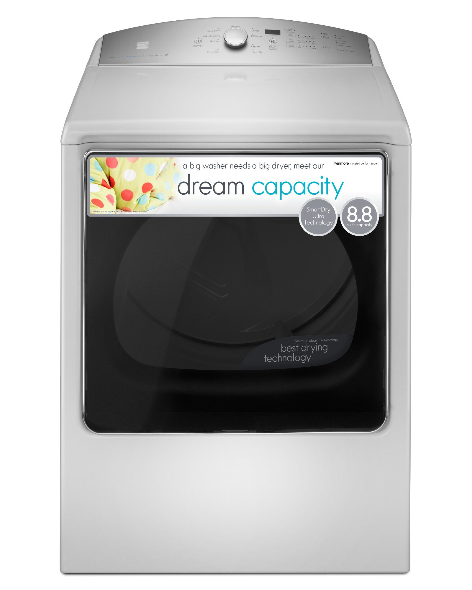 Kenmore 68132 8.8 cu. ft. Electric Dryer in White, includes delivery and hookup