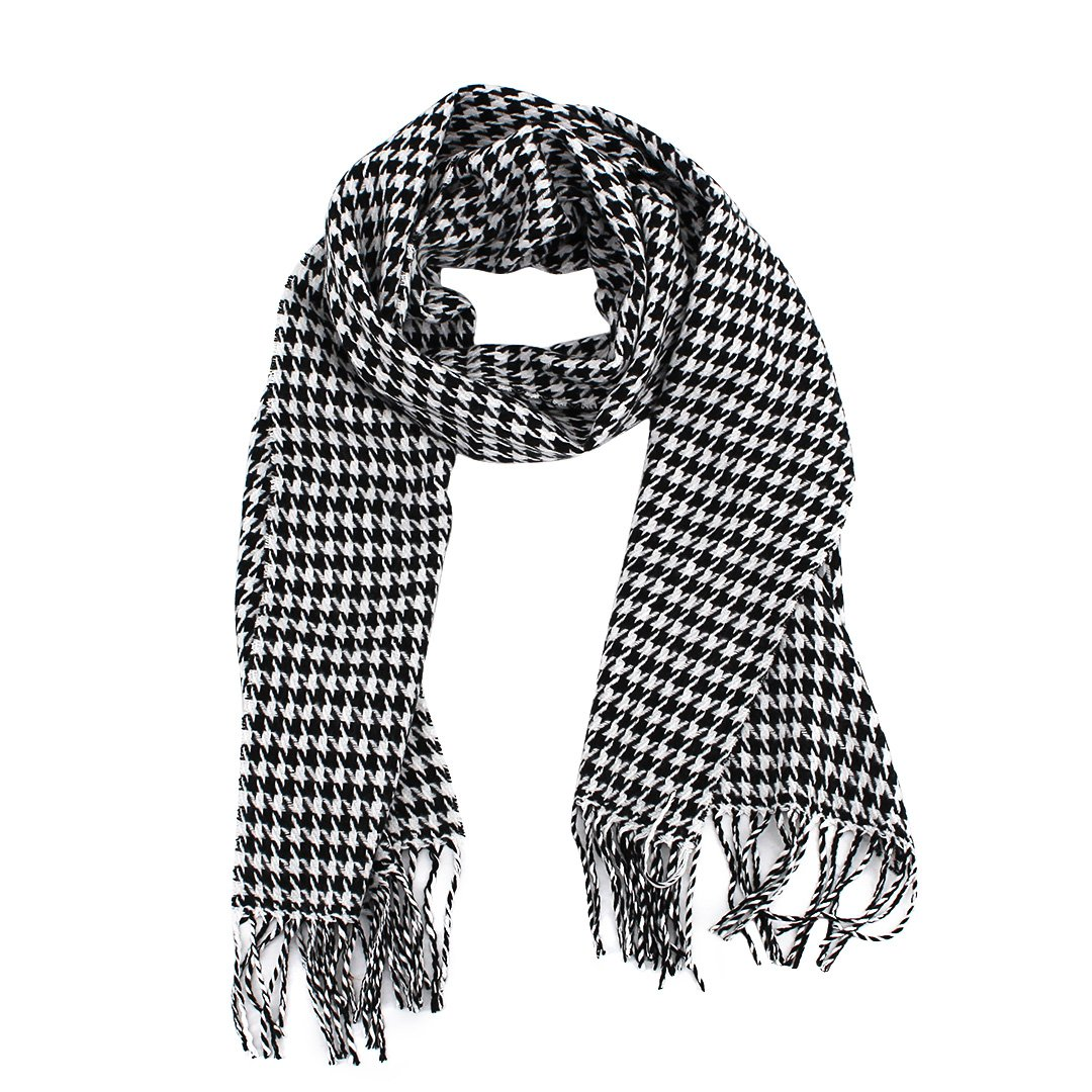 La moriposa New Kid's Cotton Grid Plaid Scarves
