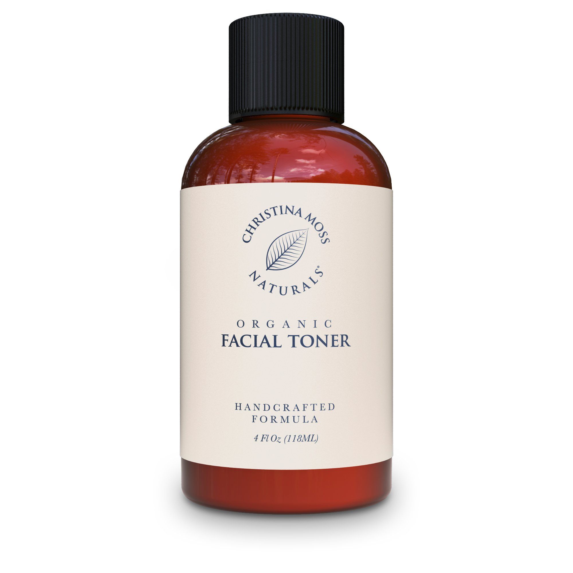 Facial Toner - Face Toner Made With Organic & Natural Ingredients - Skin Clearing, Refines, Tightens Pores, Hydrates, Restores pH. No Harmful Chemicals or GMOs. Christina Moss Naturals 4oz Unscented by Christina Moss Naturals