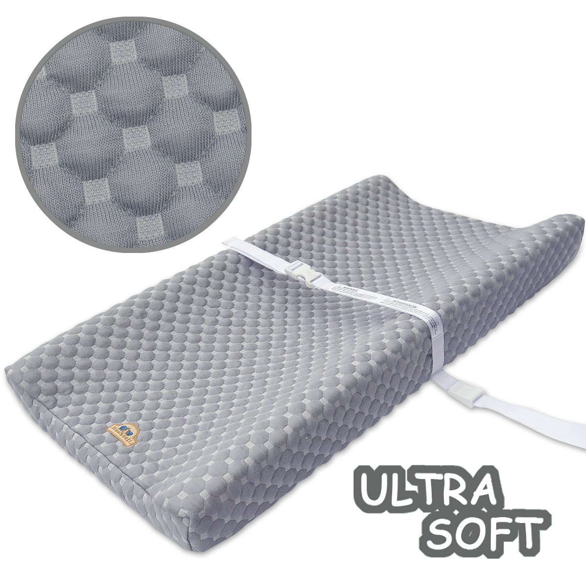 Super Soft and Comfy Changing Pad Cover for Baby by BlueSnail (Gray)