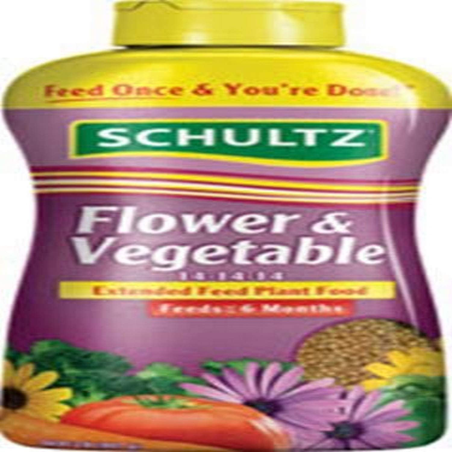 Schultz SPF48300 Flower & Vegetable Extended Feed 14-14-14 Plant Food, 2 lb