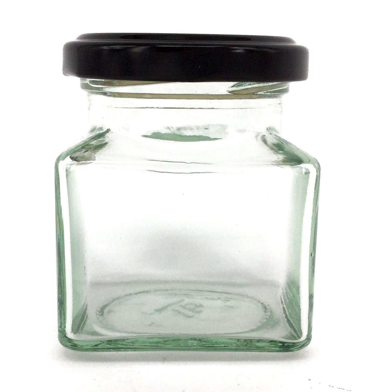 Color Plateado Nutleys Tarro Cuadrado de Cristal 130 ml