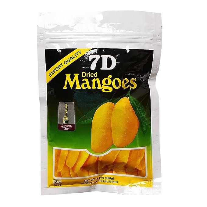 Naturally Delicious 7D Mangoes Tree Ripened Dried Mango: Amazon ...