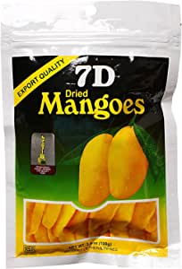 7D Dried Mangoes Naturally Delicious Fat Free Dried Mango 100g