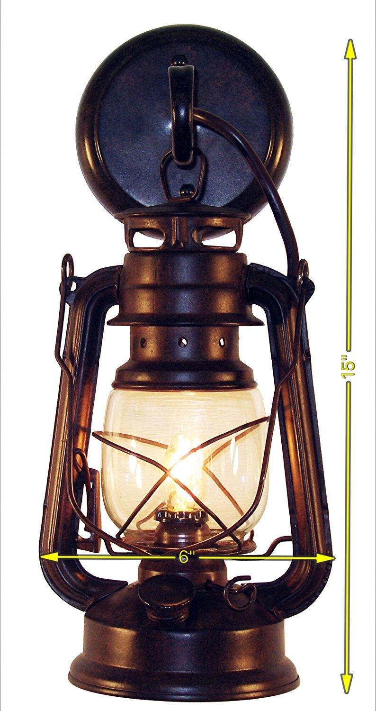 Rustic lantern wall mounted light small rustic by muskoka lifestyle products