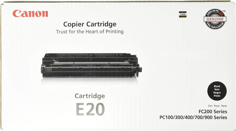 Canon Genuine Toner, Cartridge E20 Black (1492A002), 1 Pack, for Canon PC100 / 300 / 400 / 530 / 700 / 900 Series Peronal Copiers