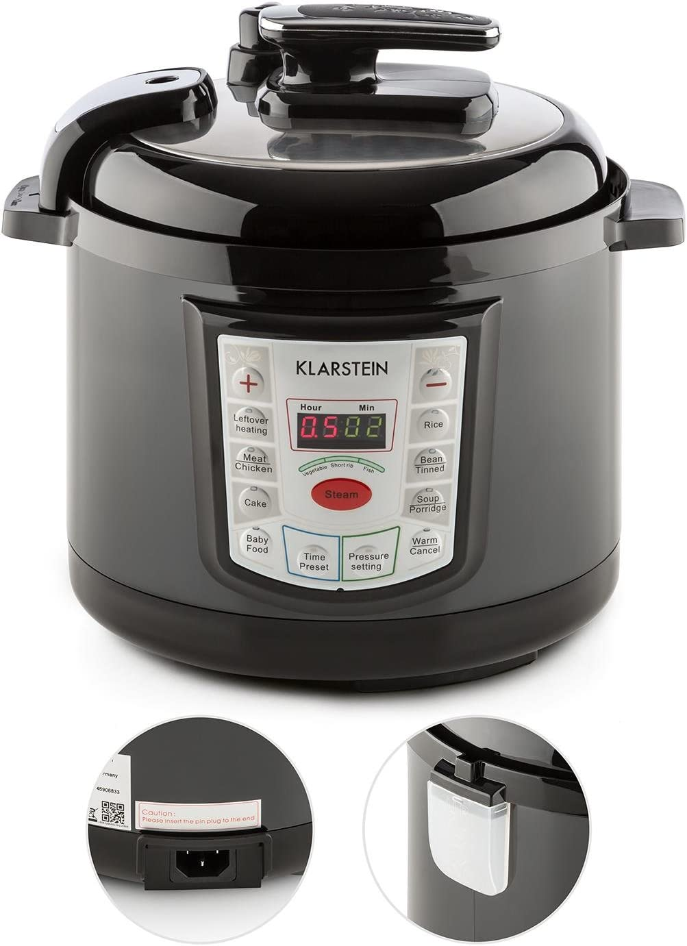 KLARSTEIN Fast Flavour Olla a presión multifunción (900W, fácil y ...