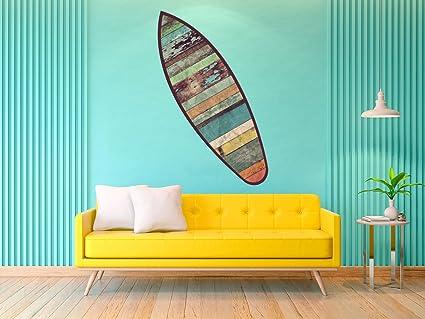 Figura Cartón Pluma Pared Tabla Shurf Madera Vieja | Figura para paredes | Cartón Pluma Decorativo