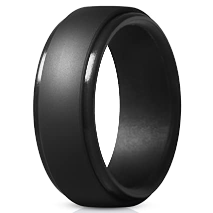 Rubber Wedding Bands.Amazon Com Thunderfit Silicone Rings For Men 4 Rings 1 Ring