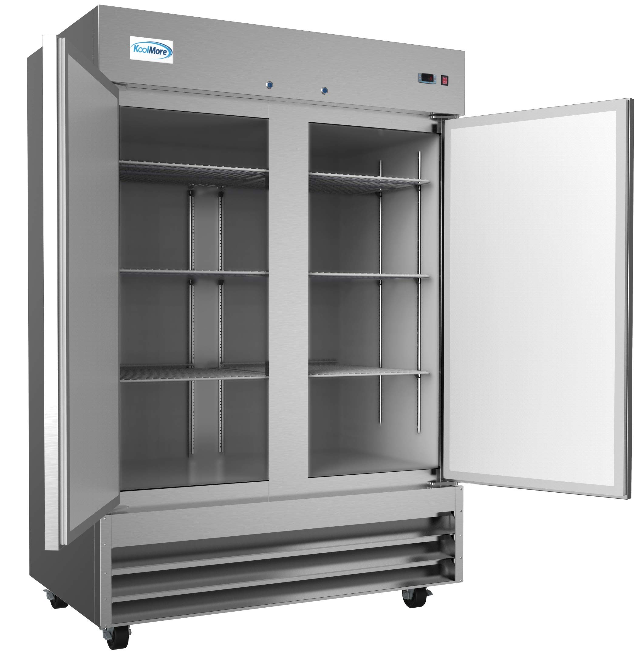 KoolMore Stainless Steel Upright Commercial Reach-In Freezer