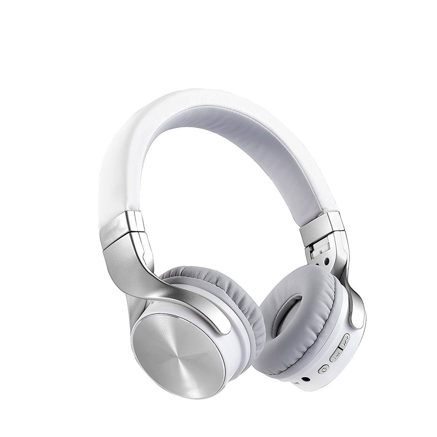 Wireless Bluetooth Headphones Over Ear, Adjustable Headset with Noise Isolation Memory-Protein Earmuffs, Hi-Fi Stereo Foldable Headphone with Mic, Perfect for TV Computer iPhone(Silver)