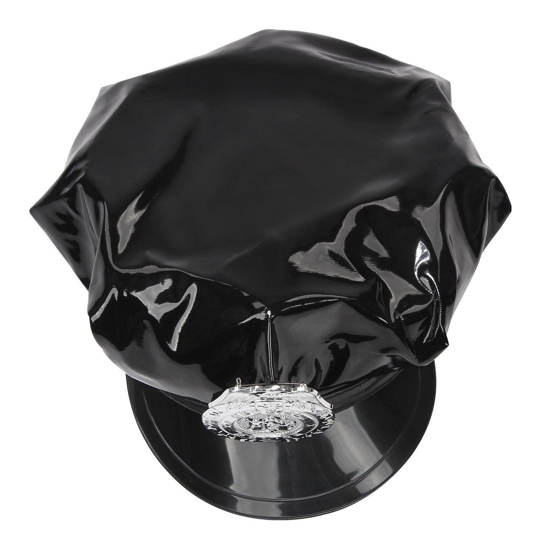 Aimerfeel señoras atractivas de del vestido de atractivas uniforme de policía negro con el sombrero de la PU, tamaño 38,40 0d702b