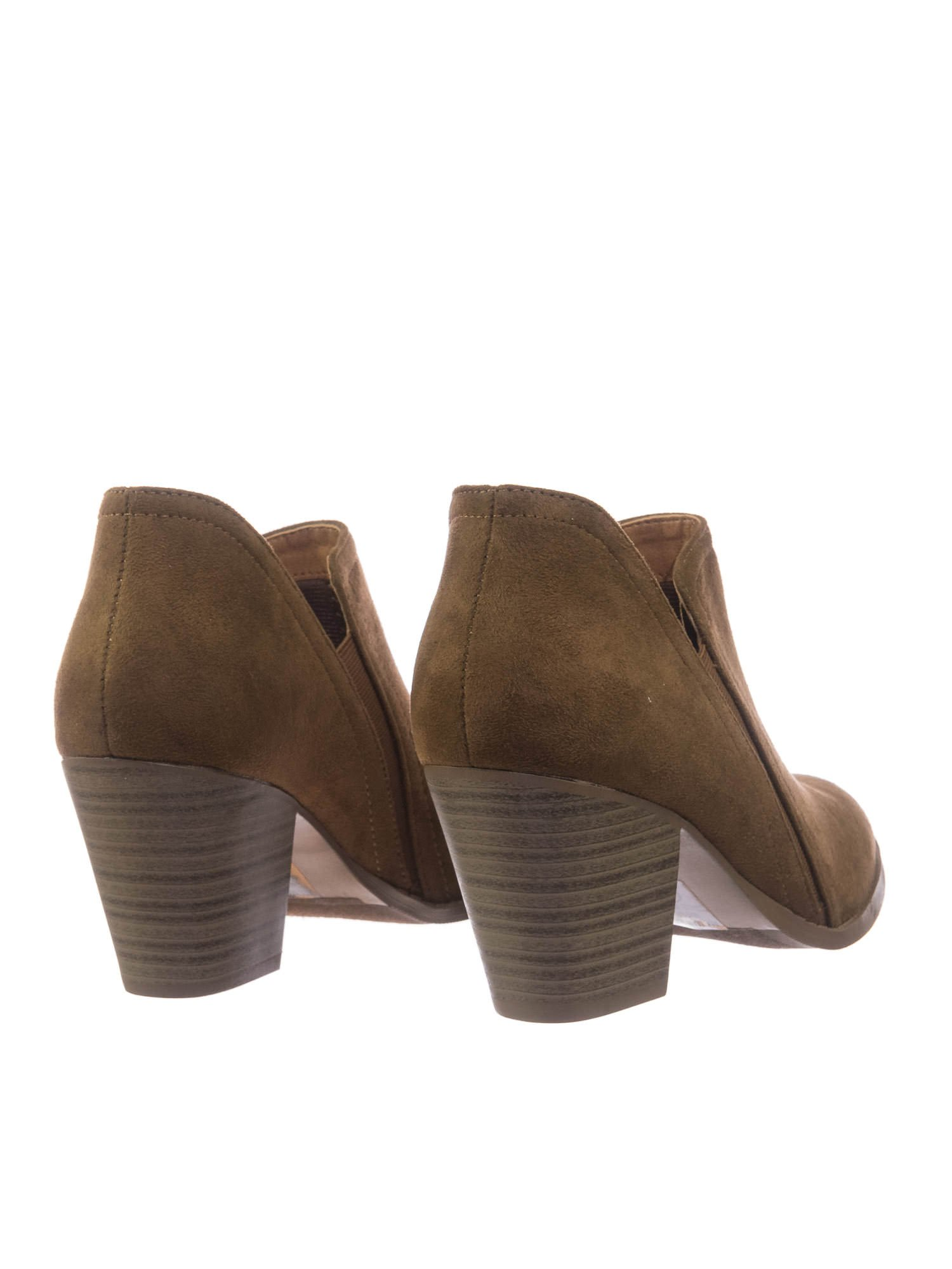 City Classified Women Chelsea High Stack Heel Ankle Bootie w Elastic Side Slit by City Classified (Image #4)