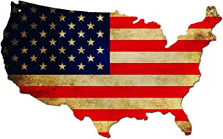 product image for Surf To Summit Plasma Cut Aluminum USA American Flag Map Sign Metal Sign Home Decor Wall Art Garage Art Great Gift Man Cave Plasma Cut Aluminum Rustic Sign Birthday Gift Patriotic Sign