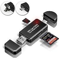 GiBot USB-Typ C Kartenlesegerät, SD/Micro SD Kartenleser Speicherkartenleser mit Micro USB OTG, USB 2.0 Adapter für Samsung, Huawei, Android Smartphone, MacBook und PC Laptop
